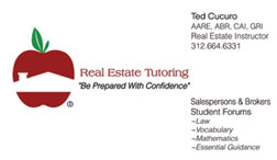 Ted Cucuro, Real Estate Instructor