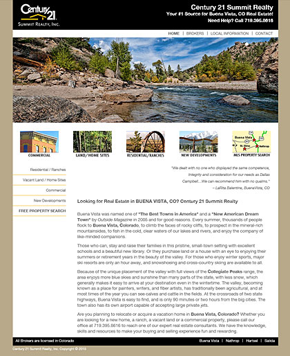 Century 21 Summit Realty web design